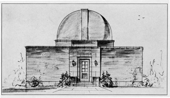 Photo: Architect's rendering of Stephens Observatory. Hiram College.