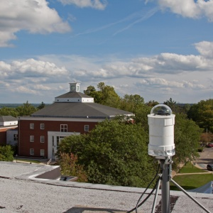 Photo: Fireball Network camera sitting on rooftop. Photo by James Guilford.