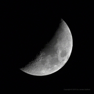 Photo: Waxing Gibbout Moon. Photo by James Guiilford.