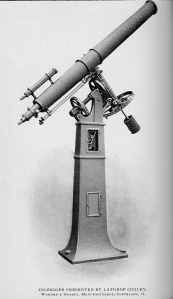 Photo: 9-inch Warner and Swasey Telescope of Hiram College. - 1901 Factory Photograph