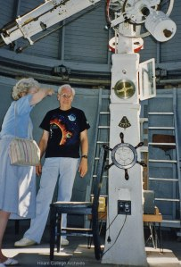Photo: Robert Andress, Jr. with an Observatory Visitor.