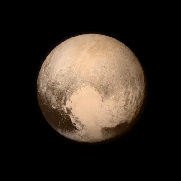 Photo: Pluto as imaged by NASA's New Horizons spacecraft on July 13, 2015.