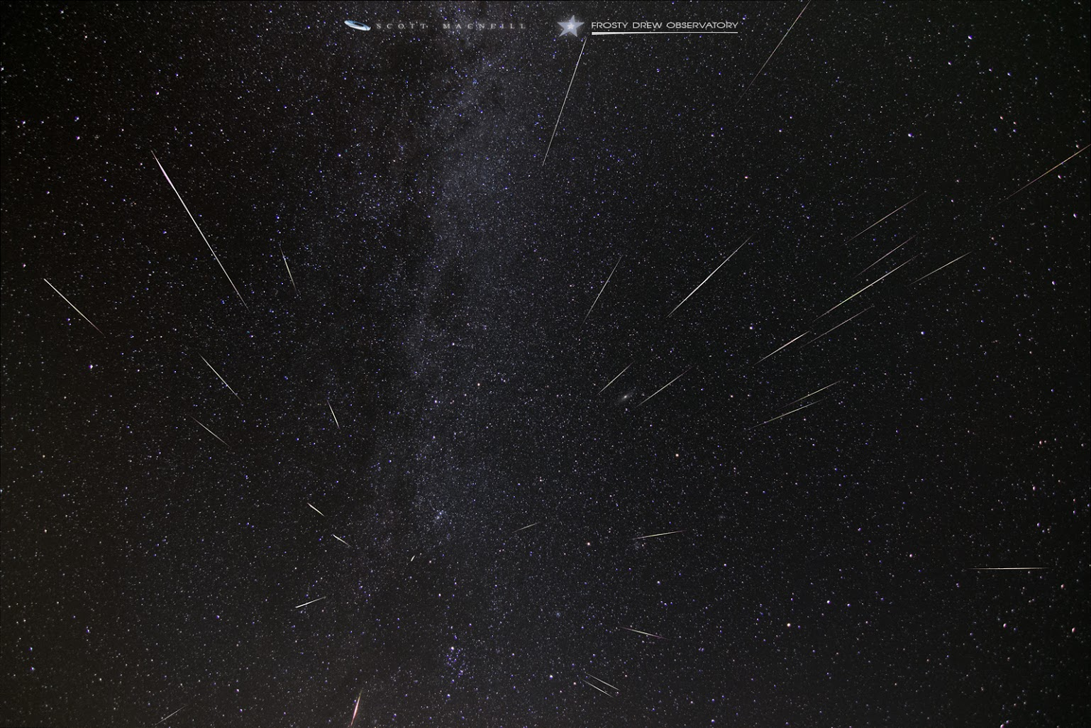 Photo: 2015 Perseids meteor shower imaged over five hours by Scott MacNeill