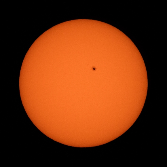 Sunspot Photo: Photo Info: Canon EOS M3: ISO 250, 1/1600 sec., f/8, 400mm lens. Photo by James Guilford.