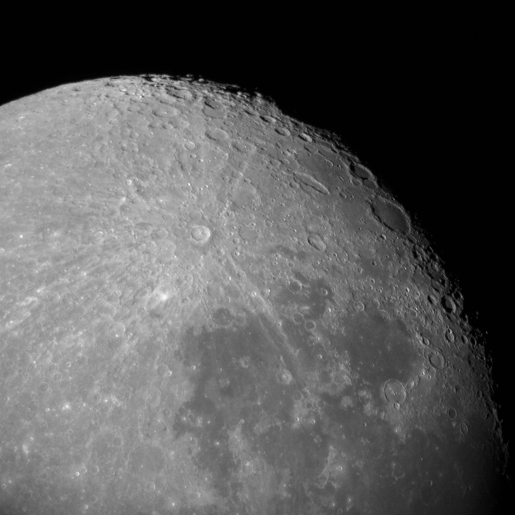 Photo: Earth's Moon, featuring crater Tyco. Photo by James Guilford.