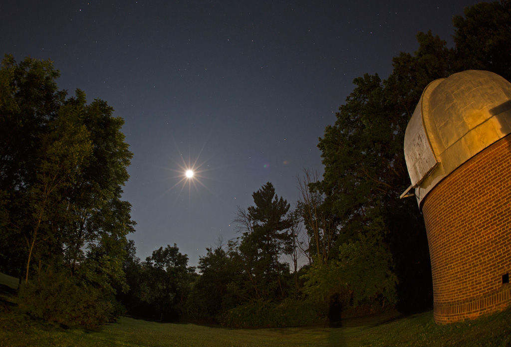 Photo: Moon, Planets, Stars, Observatory. Photo by James Guilford.