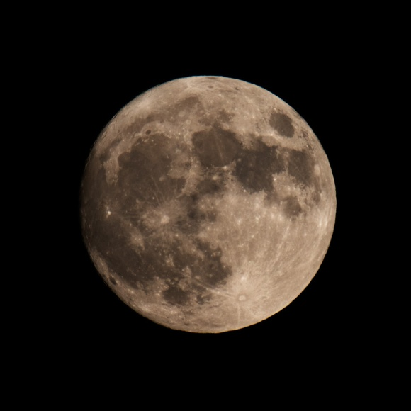 "Photo: Nearly Full Perigee (aka ""supermoon"")  - November 13, 2016, 5:52 PM. Photo by James Guilford."