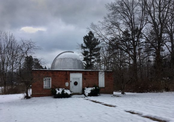 Photo: Stephens Memorial Observatory - December 2016. Photo by James Guilford.