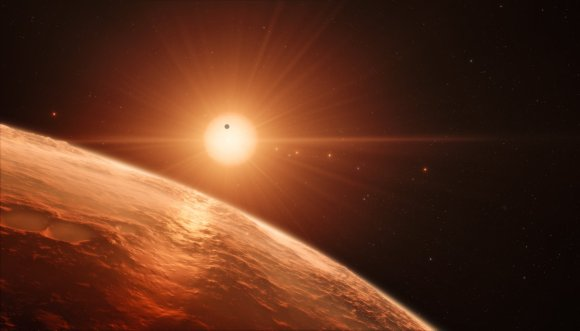 Image: Artist's impression of star system. Credit: ESO/M. Kornmesser/spaceengine.org