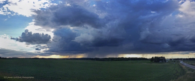 Photo: Storm over Portage County, Ohio, June 24, 2017 - by James Guilford