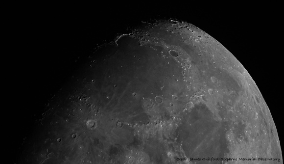 Photo: Mare Imbrium region of Earth's Moon. Credit: James Guilford/Stephens Memorial Observatory