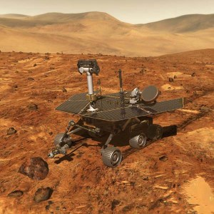 Artist's concept of the Spirit & Opportunity Mars Rovers. Image Credit: NASA