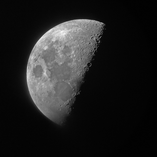 Photo: First Quarter Moon, October 5, 2019.